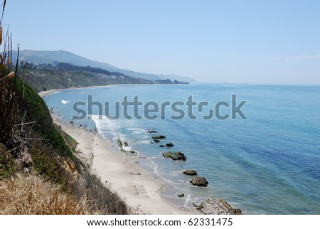 California Coast Carpenteria Bluffs - stock photo