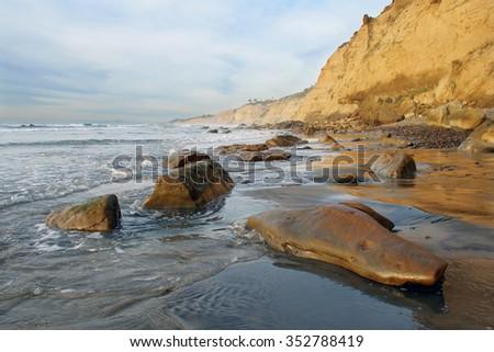 california coast in La Jolla - stock photo