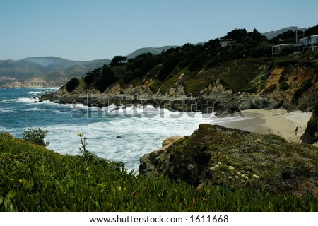 California Coast Landscape - stock photo