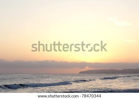 California Coast Line take at San Clemente - stock photo