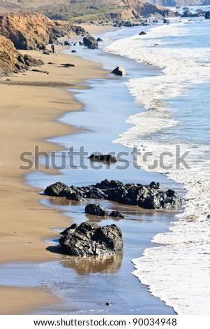 California Coast near San Simeon - stock photo