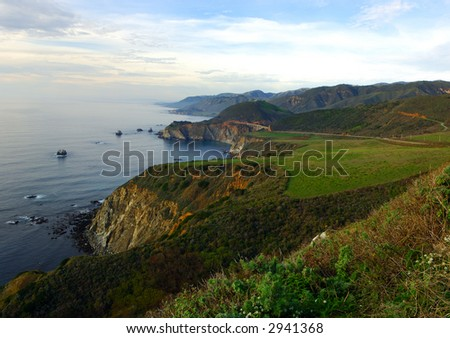 California Coast North of Big Sur - stock photo