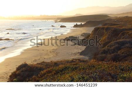 California Coastline near Big Sur, USA - stock photo