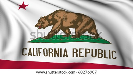 California flag - USA state flags collection - stock photo