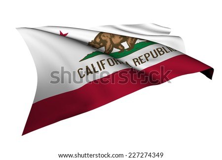 California flag - USA state flags collection no_4  - stock photo