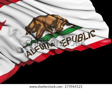 California Flag with black - stock photo