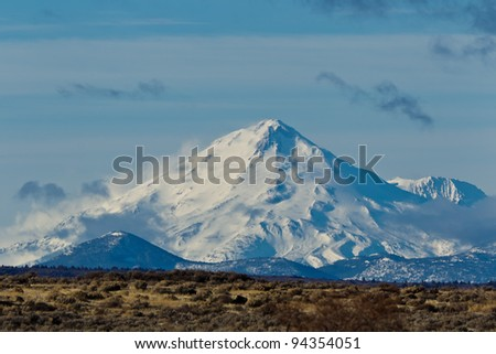 California Landscape:  Mount Shasta in California. - stock photo