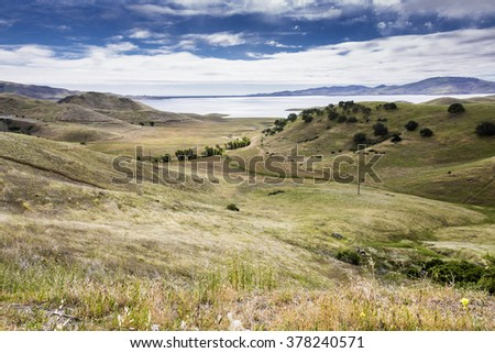 California landscape with grassland - stock photo