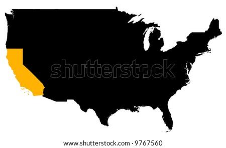Black United States Map Shape Stock Vector Shutterstock - Usa map shape