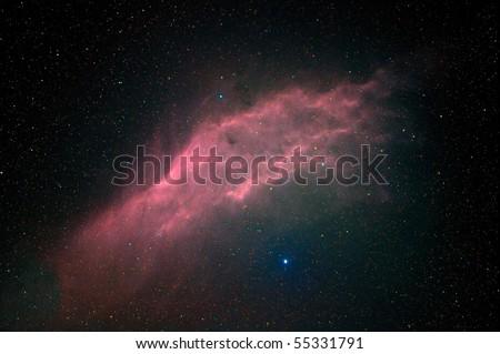 California nebula in Perseus - stock photo