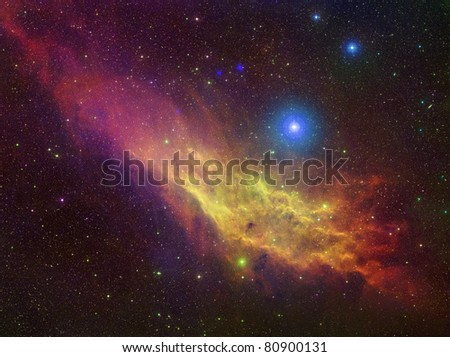 California nebulae color - stock photo