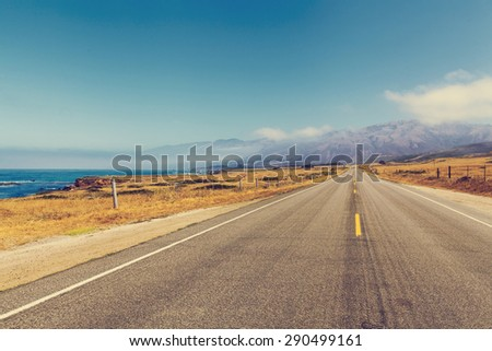 California Road - stock photo