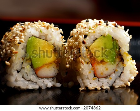 california roll - stock photo