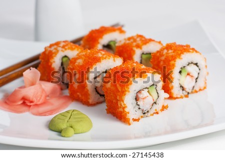 California roll, close-up - stock photo