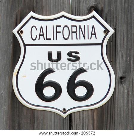 California Route 66 sign - stock photo
