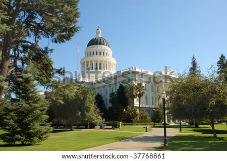 California State Capitol building; Sacramento, California - stock photo