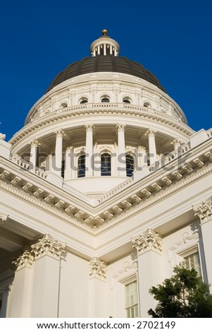 California State Capitol close-up - stock photo