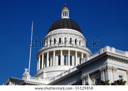 California State Capitol Dome - stock photo
