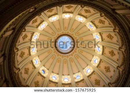 California State Capitol Interior of Rotunda - stock photo