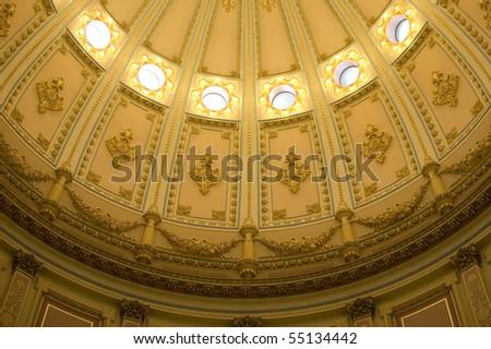 California State Capitol Interior of Rotunda - stock photo
