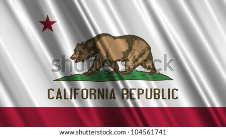 California State Flag - stock photo