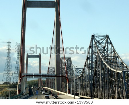 california toll bridge over water #1 - stock photo