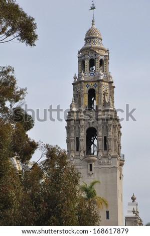California Tower in Balboa Park in San Diego, California - stock photo