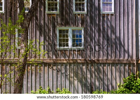 California Western style wooden houses in USA - stock photo