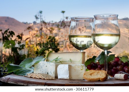 California Wine and Cheese - stock photo