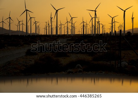 Californian wind farm - Palm Springs