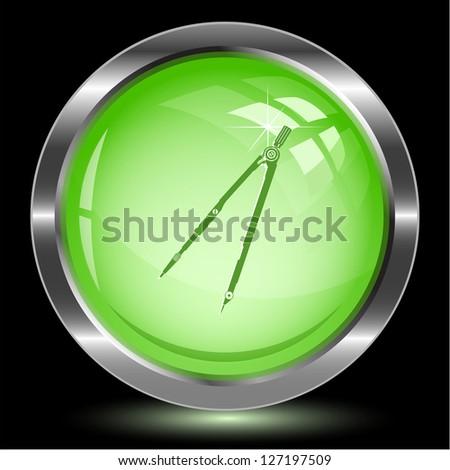 Caliper. Internet button. Raster illustration. - stock photo