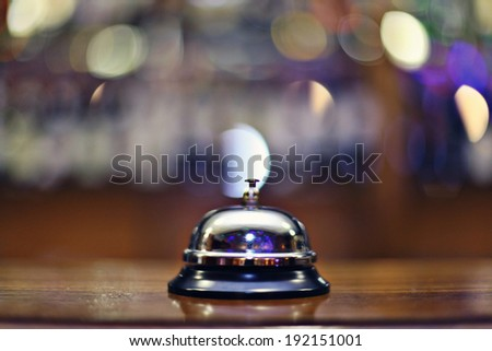 call bell at the front desk - stock photo