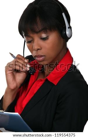 Call-center agent - stock photo