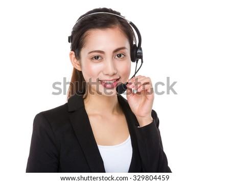 Call center agent - stock photo
