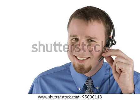 Call Center Employee Smiling