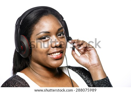 Call,center girl - stock photo