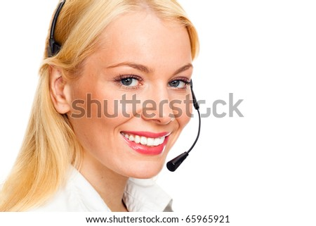 call center operator - stock photo