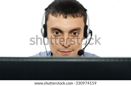 Call center operator, consultant,manager - stock photo