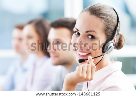 Call center team - stock photo