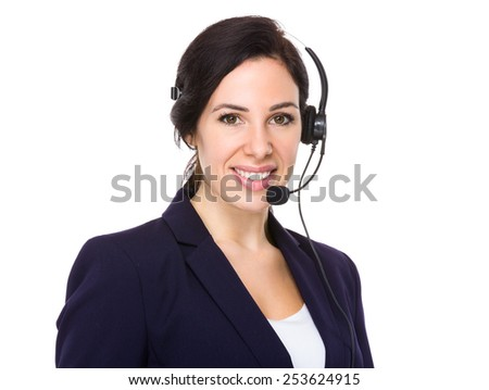 Call centre agent - stock photo