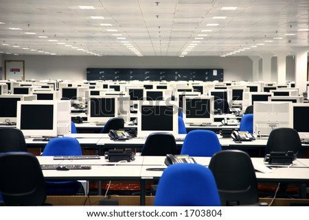 Call Centre - Corporate Office - stock photo