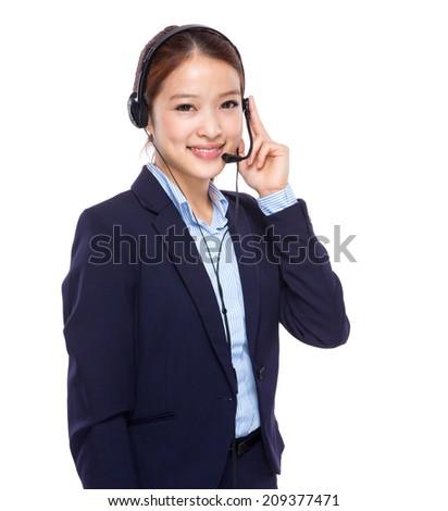 Call centre operator - stock photo