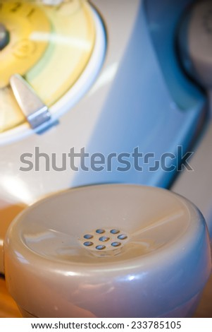 Call in the 70 - rotary telephone - Receiver - stock photo