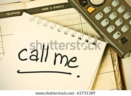 call me - stock photo