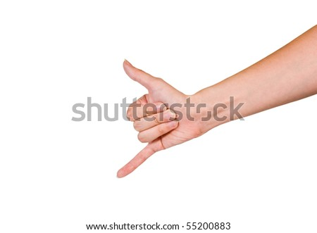 call me gesture - stock photo