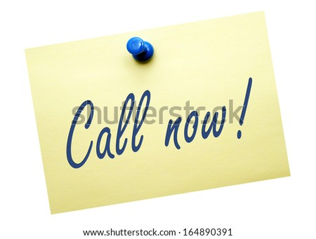 Call now ! - stock photo