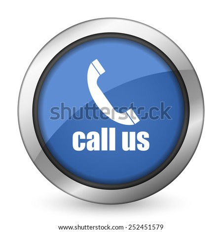 call us icon phone sign  - stock photo