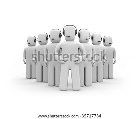Callcenter. Strong team. Teamwork. - stock photo