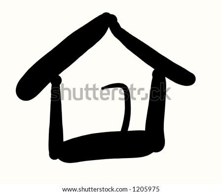 Calligraphic House - stock photo