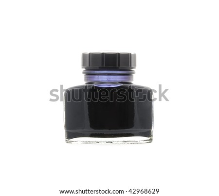 Calligraphy Ink Well - stock photo